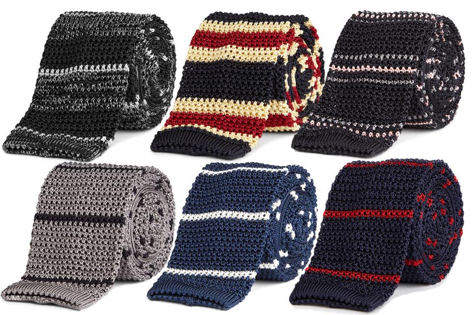 Roman Stripe Knit Tie